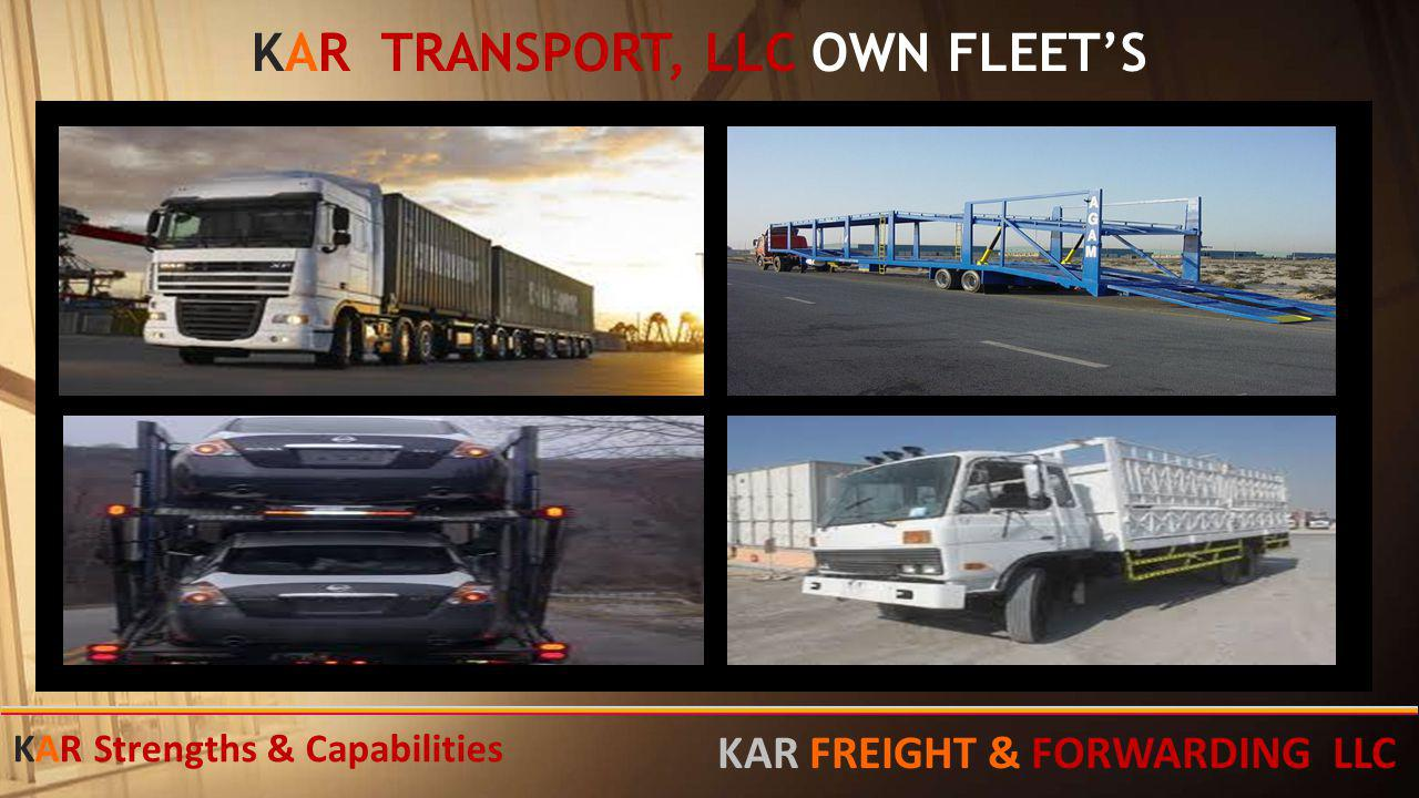 KAR TRANSPORT, LLC OWN FLEET'S