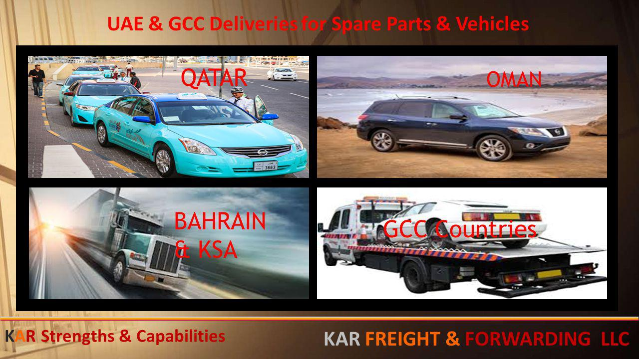 UAE & GCC Deliveries for Spare Parts & Vehicles