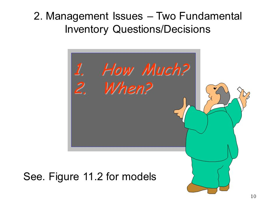 2. Management Issues – Two Fundamental Inventory Questions/Decisions