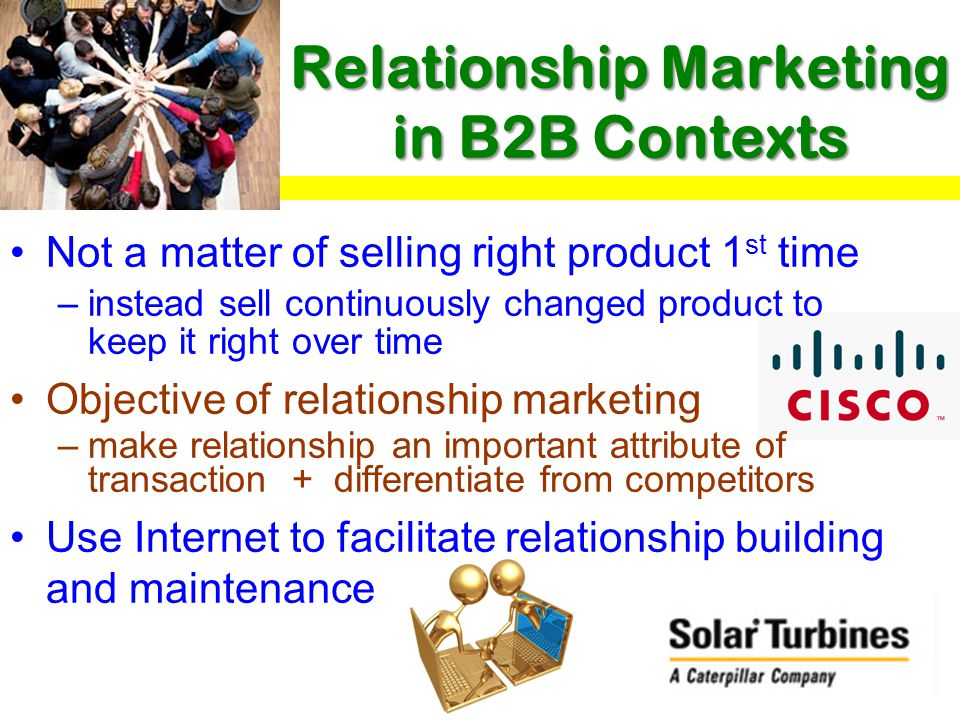 Relationship Marketing in B2B Contexts