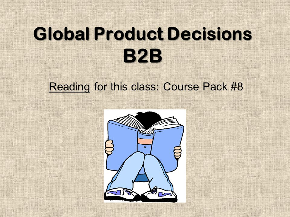 Global Product Decisions B2B