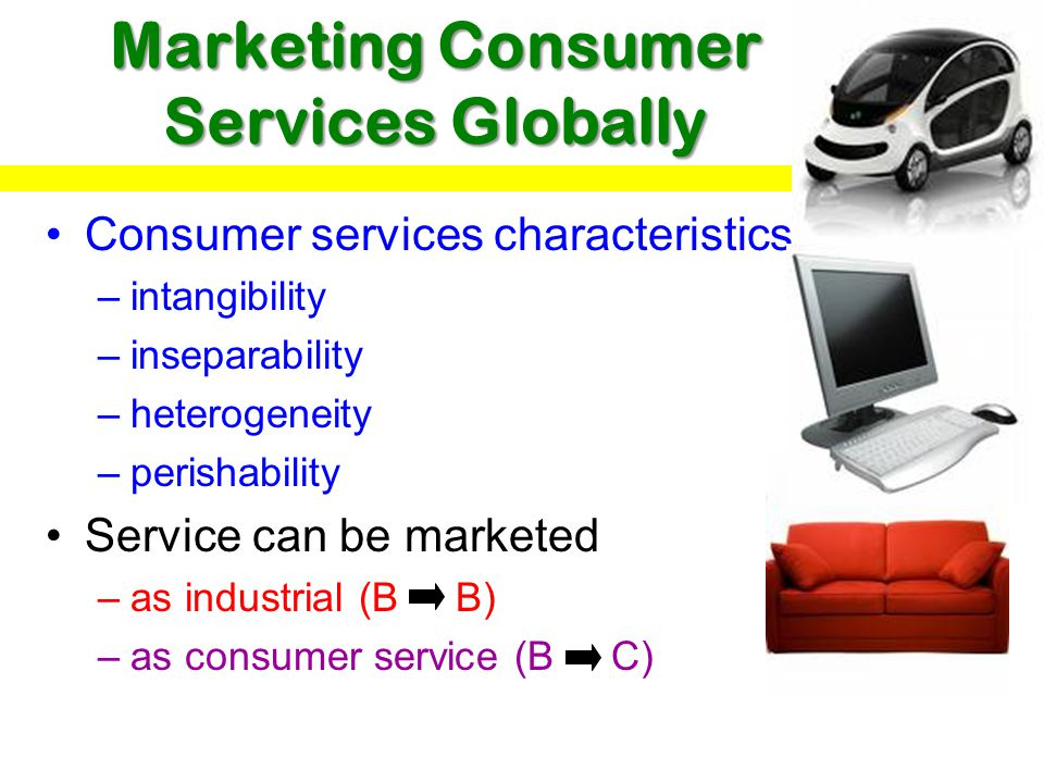 Marketing Consumer Services Globally