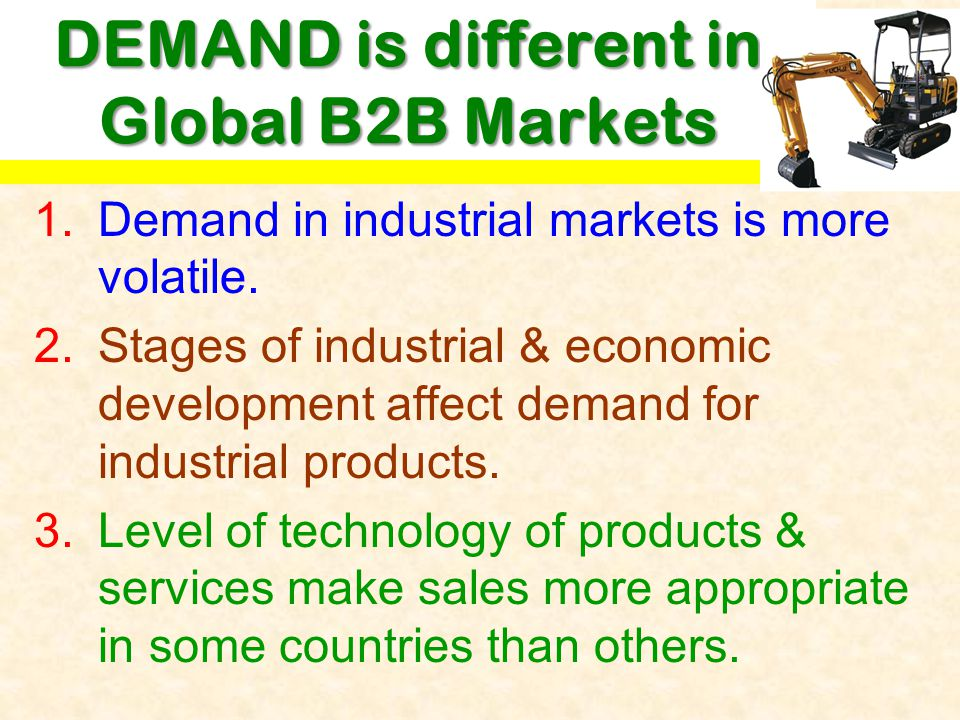 DEMAND is different in Global B2B Markets