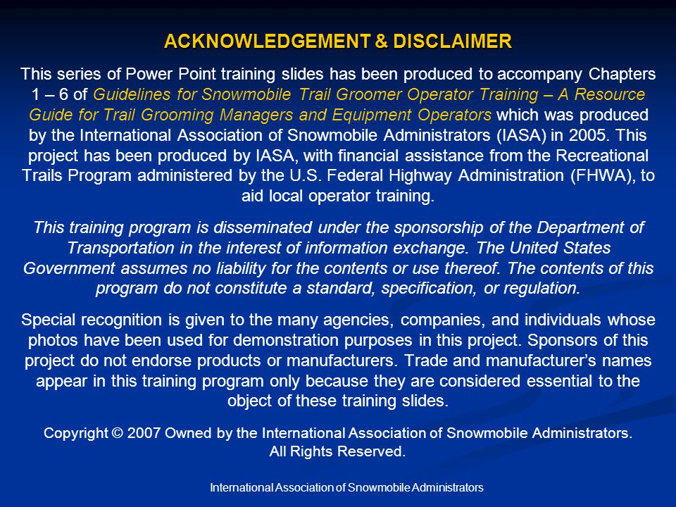 International Association of Snowmobile Administrators