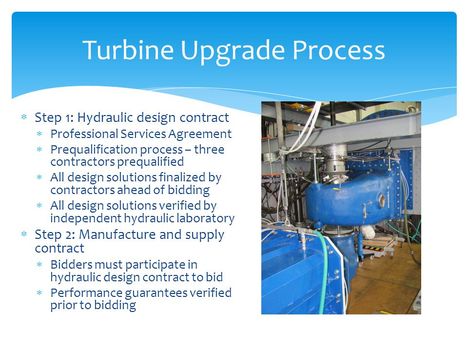 Turbine Upgrade Process