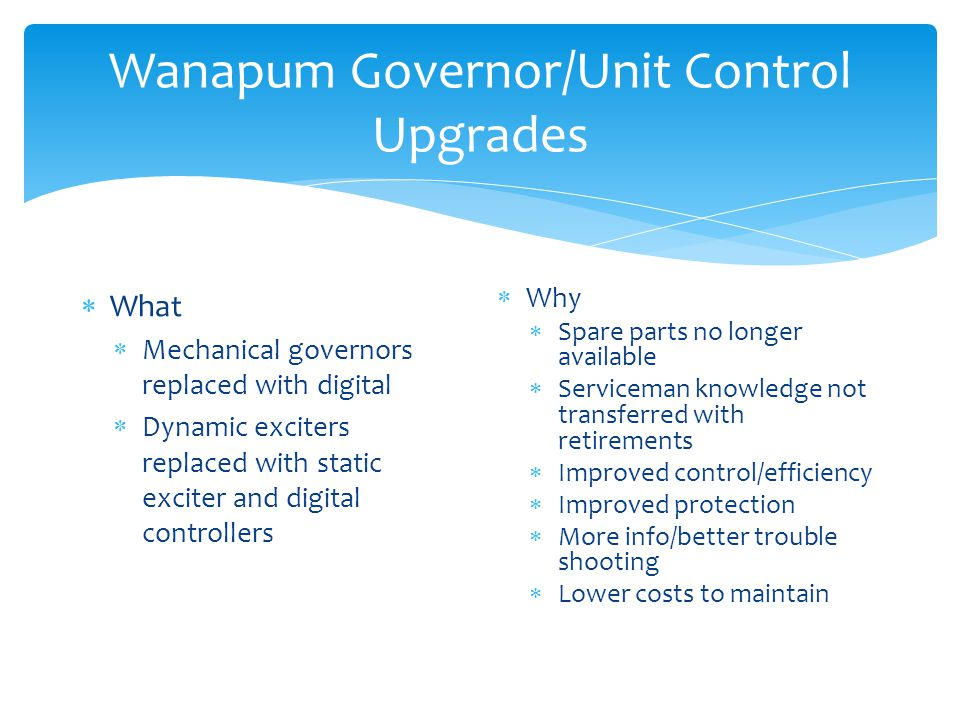 Wanapum Governor/Unit Control Upgrades