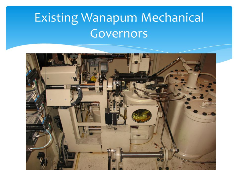 Existing Wanapum Mechanical Governors