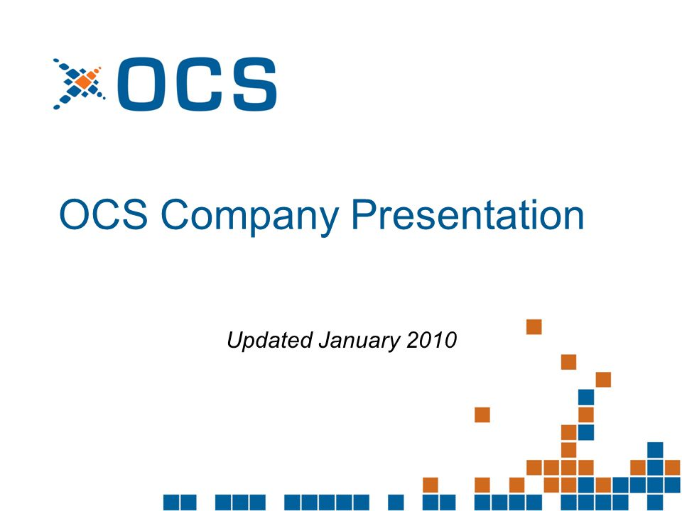 OCS Company Presentation