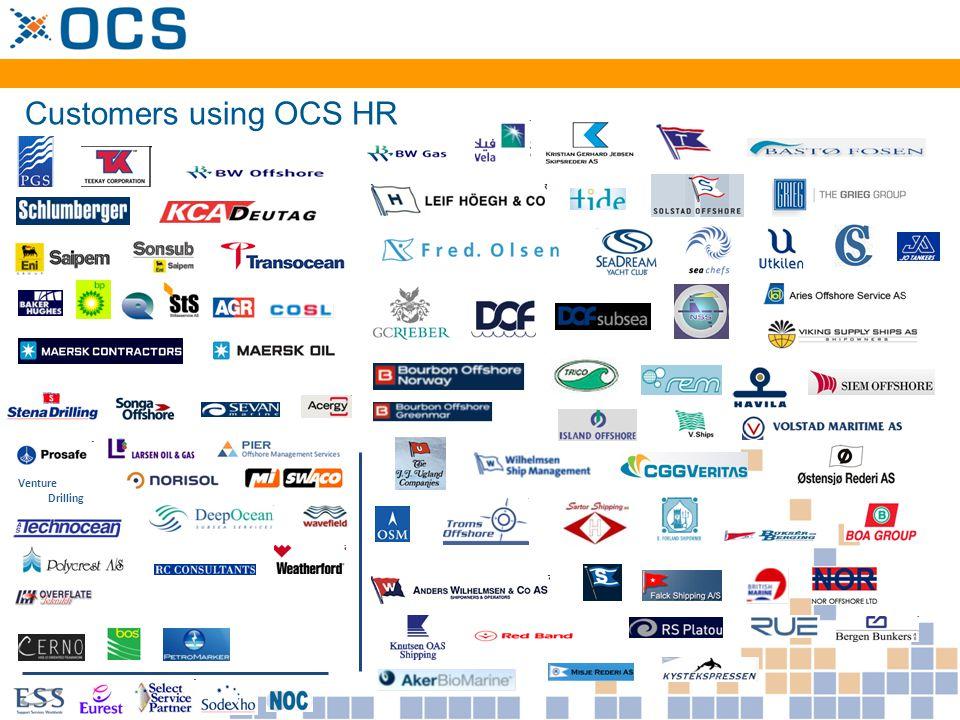 Customers using OCS HR Venture Drilling
