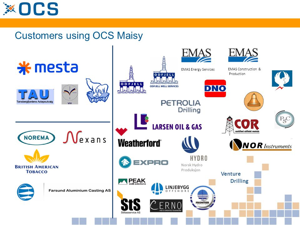Customers using OCS Maisy