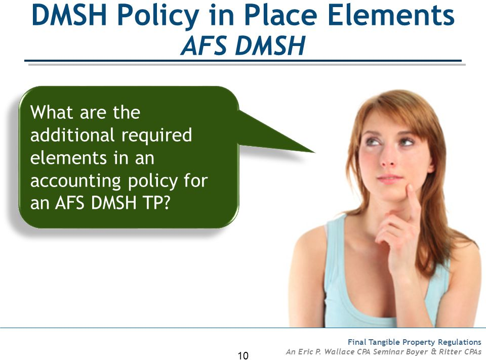 DMSH Policy in Place Elements AFS DMSH