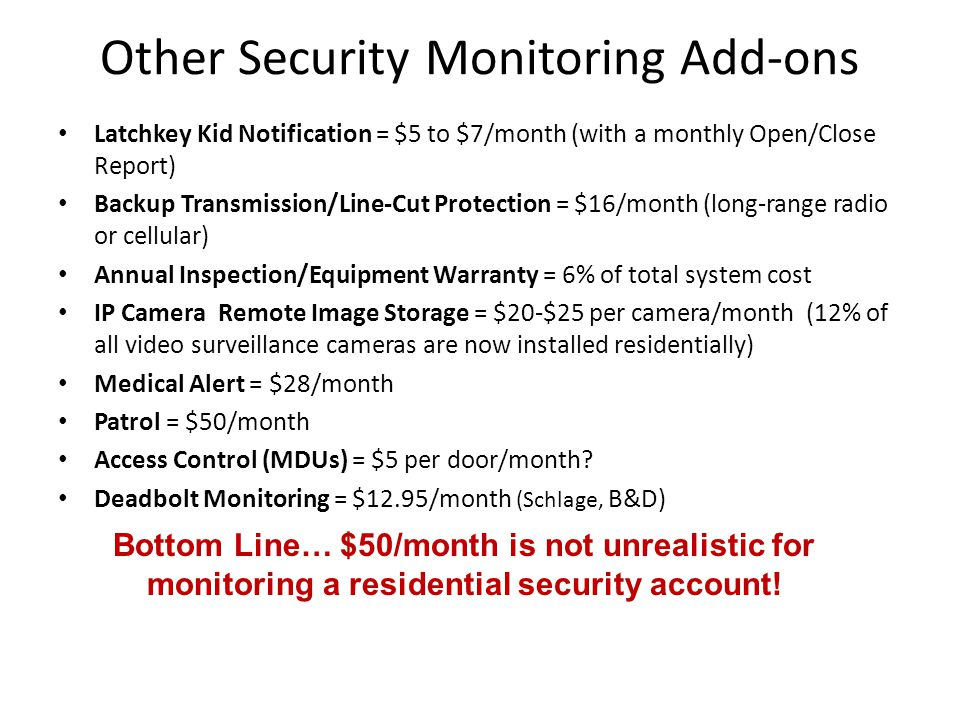 Other Security Monitoring Add-ons