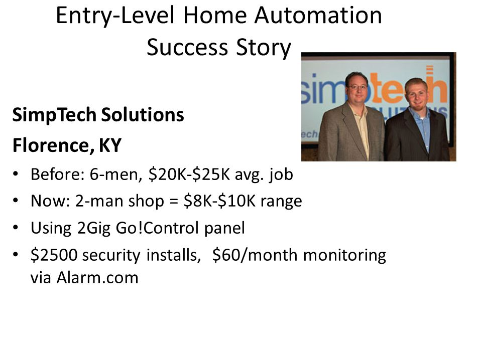 Entry-Level Home Automation Success Story