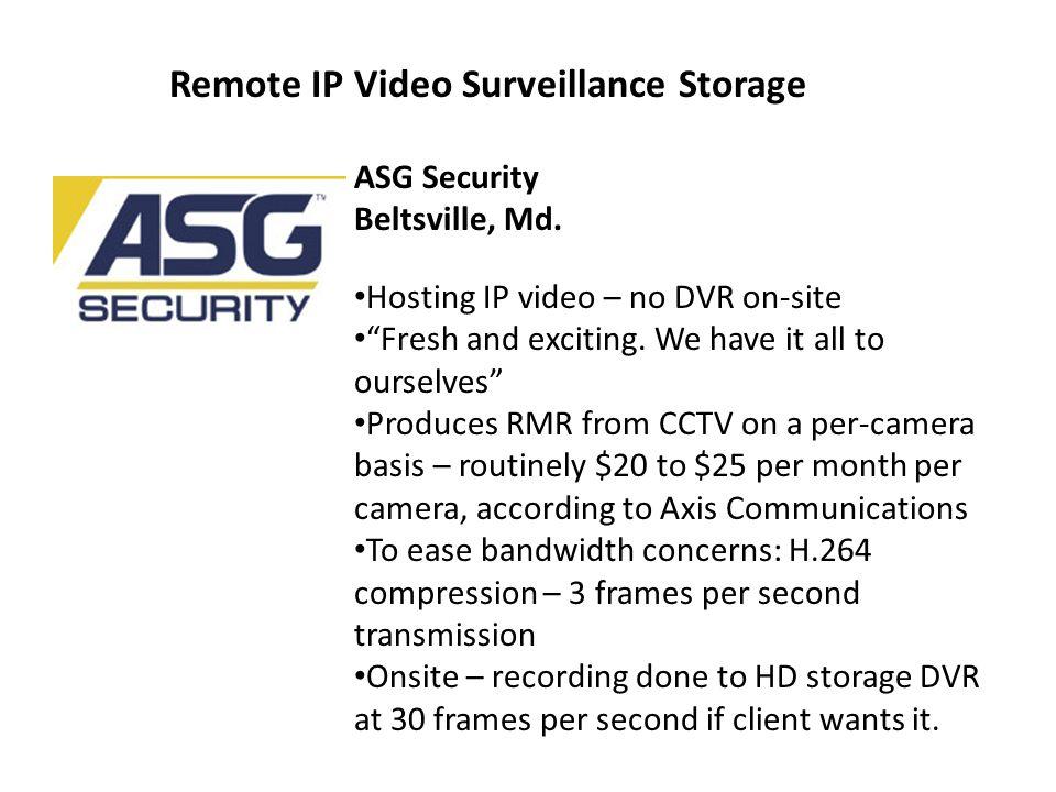Remote IP Video Surveillance Storage