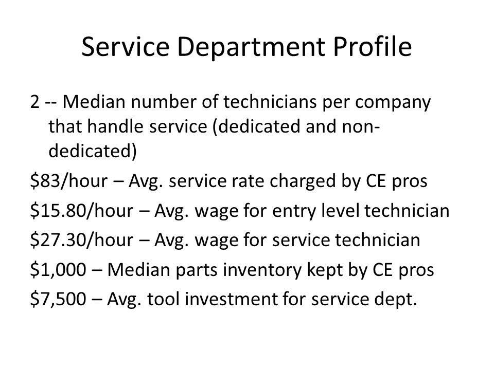 Service Department Profile