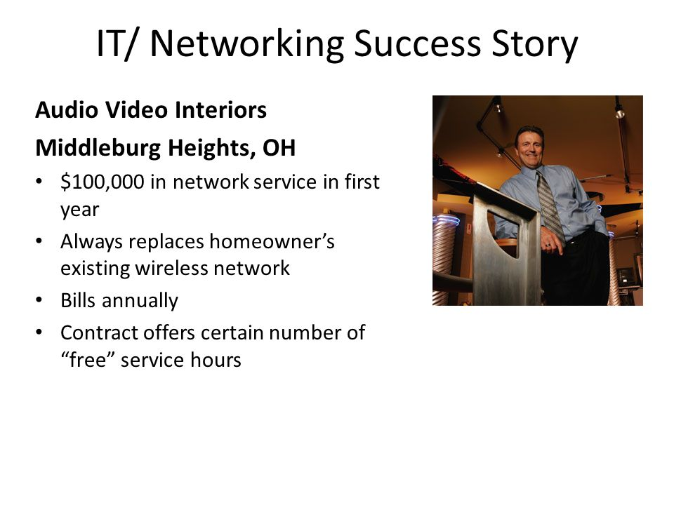 IT/ Networking Success Story