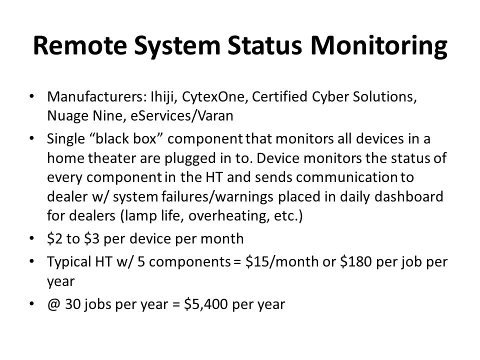 Remote System Status Monitoring