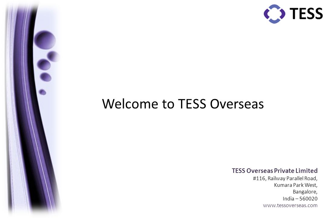 Welcome to TESS Overseas