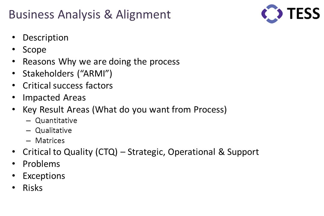 Business Analysis & Alignment