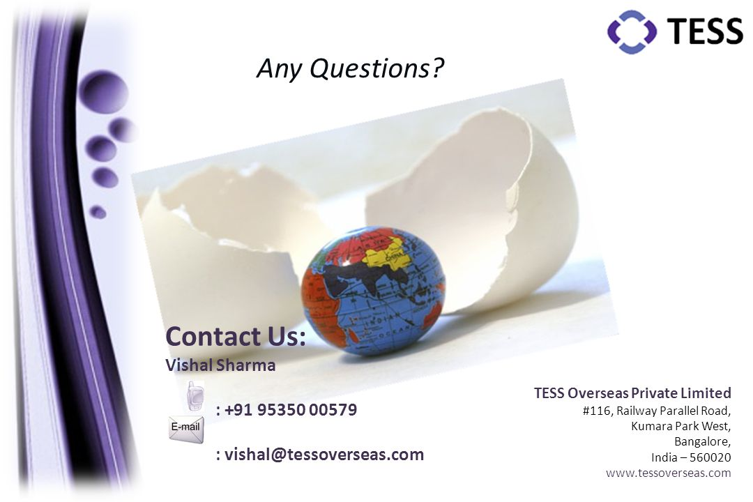 Any Questions Contact Us: Vishal Sharma : +91 95350 00579
