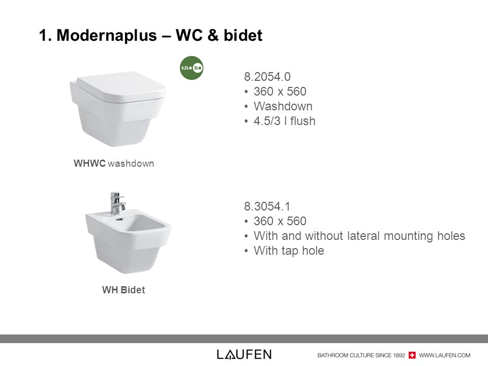 1. Modernaplus – WC & bidet