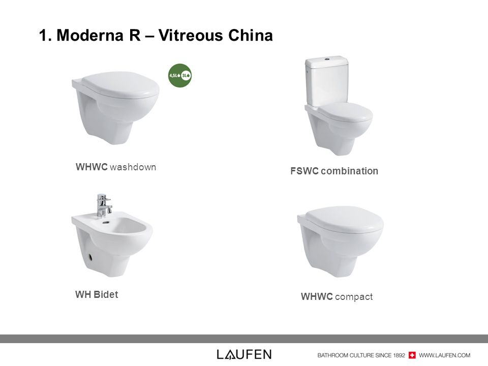 1. Moderna R – Vitreous China