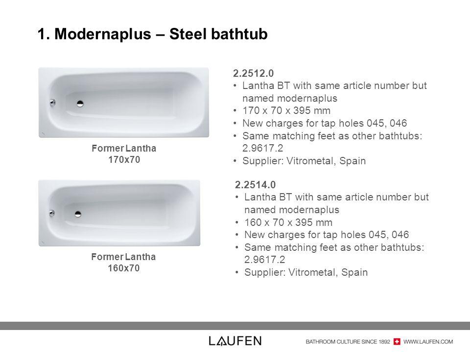 1. Modernaplus – Steel bathtub