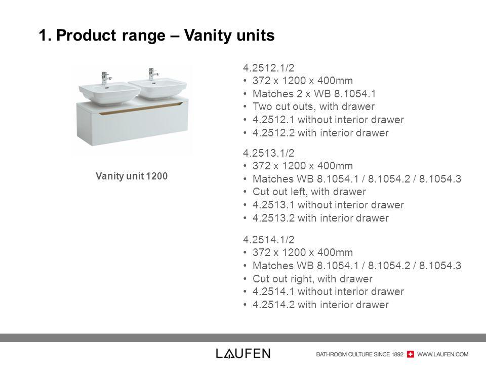 1. Product range – Vanity units