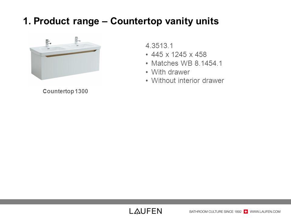 1. Product range – Countertop vanity units