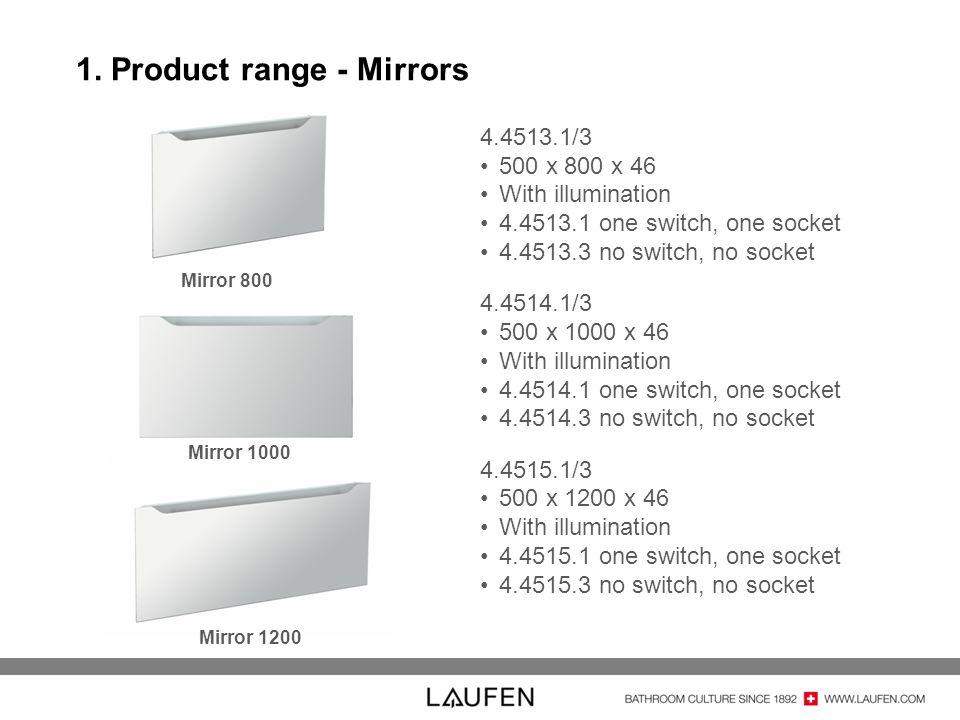 1. Product range - Mirrors