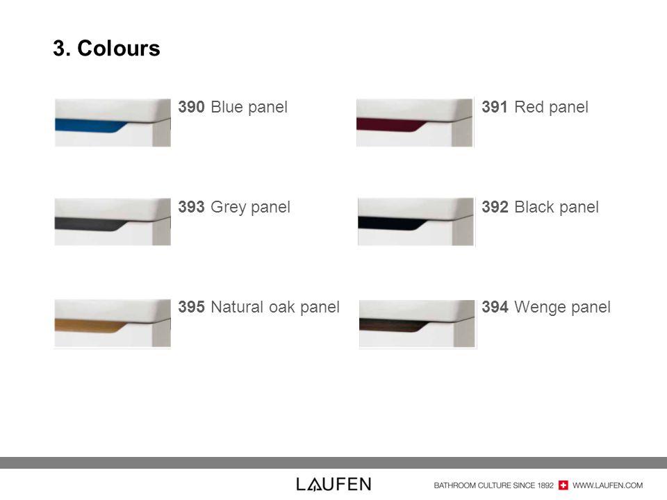 3. Colours 390 Blue panel 393 Grey panel 395 Natural oak panel
