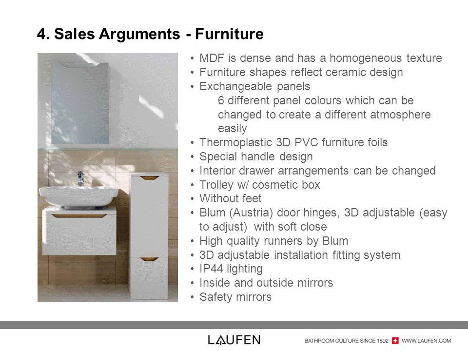 4. Sales Arguments - Furniture