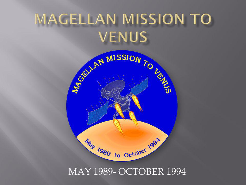 MAGELLAN MISSION TO VENUS