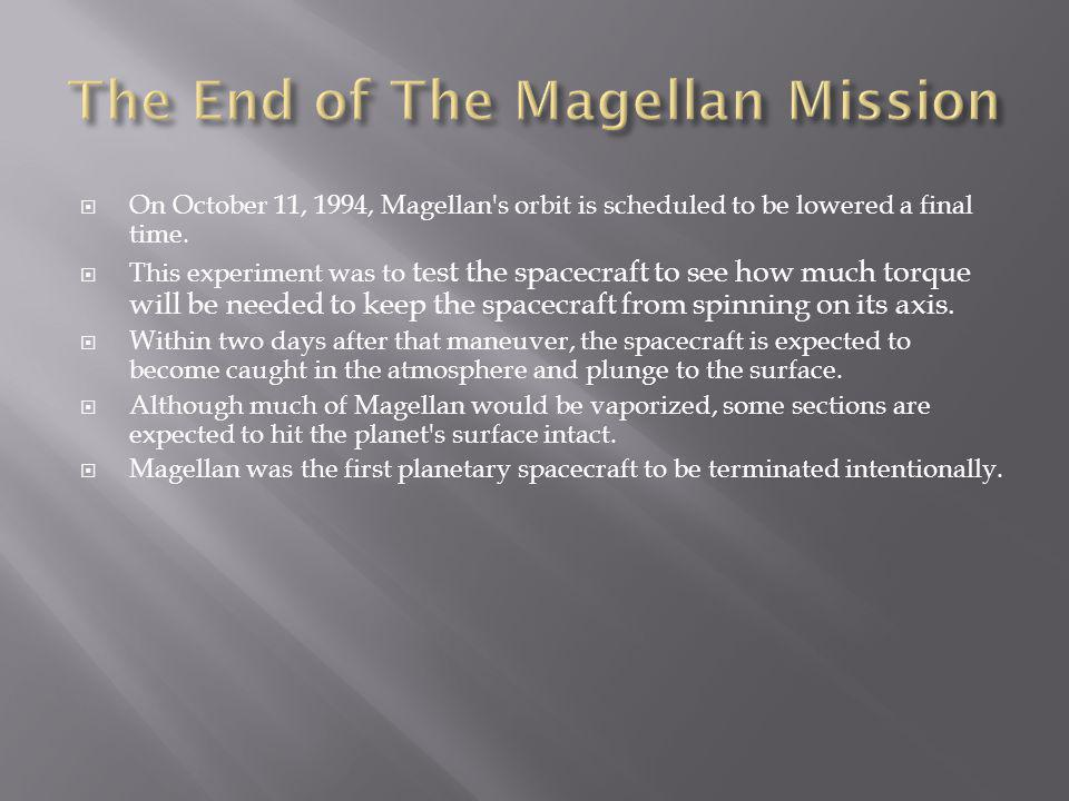 The End of The Magellan Mission