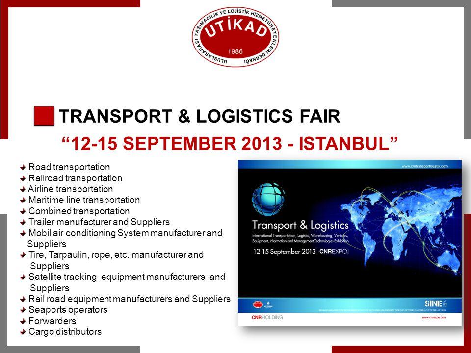 12-15 SEPTEMBER 2013 - ISTANBUL