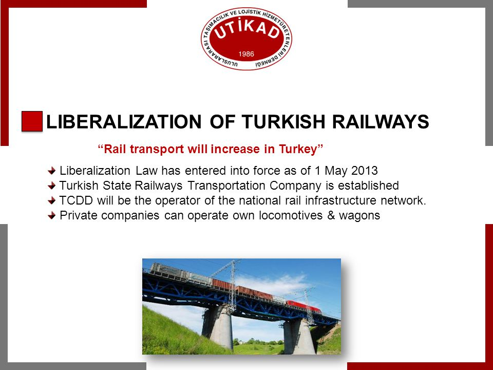 LIBERALIZATION OF TURKISH RAILWAYS