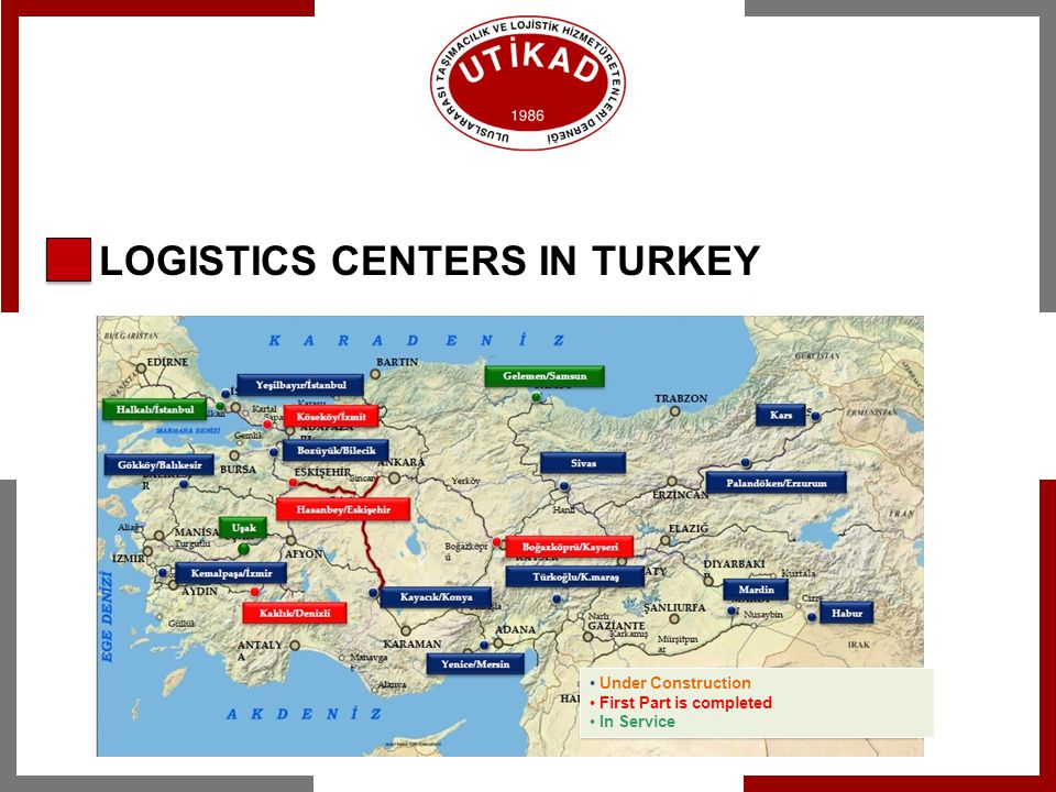 LOGISTICS CENTERS IN TURKEY