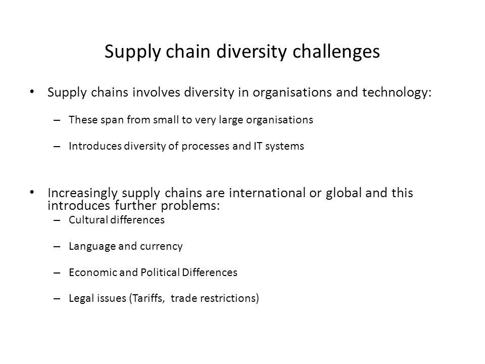 Supply chain diversity challenges