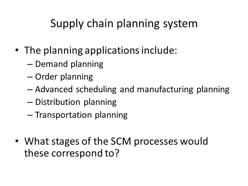 Supply chain planning system