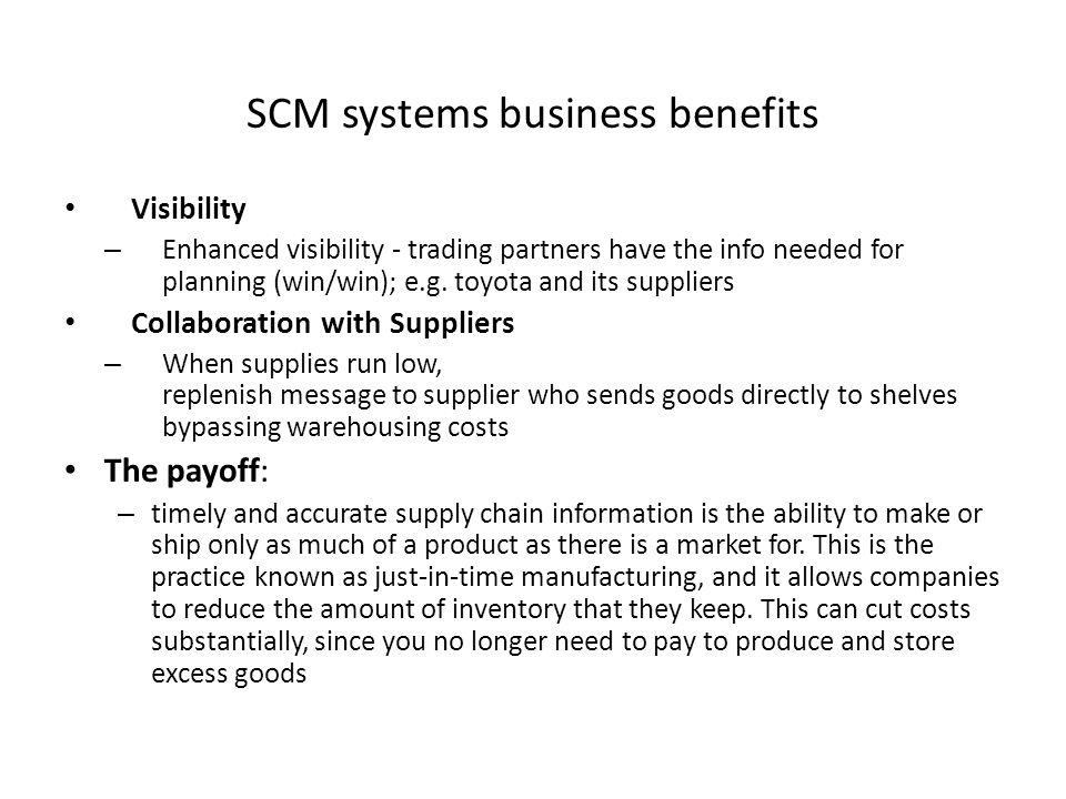 SCM systems business benefits