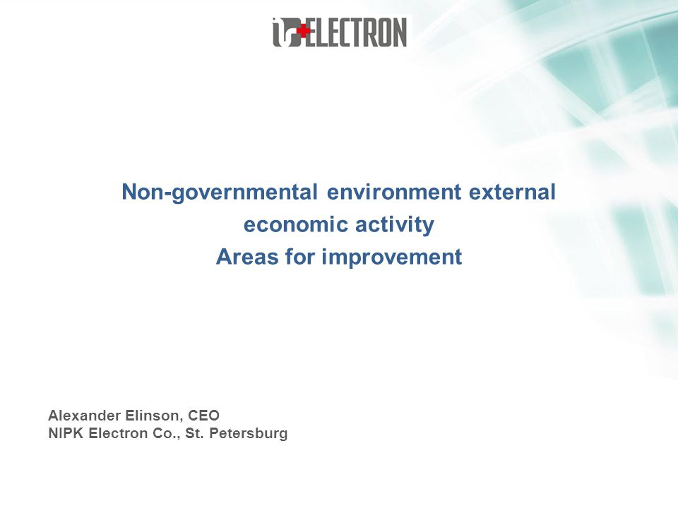 Non-governmental environment external economic activity Areas for improvement