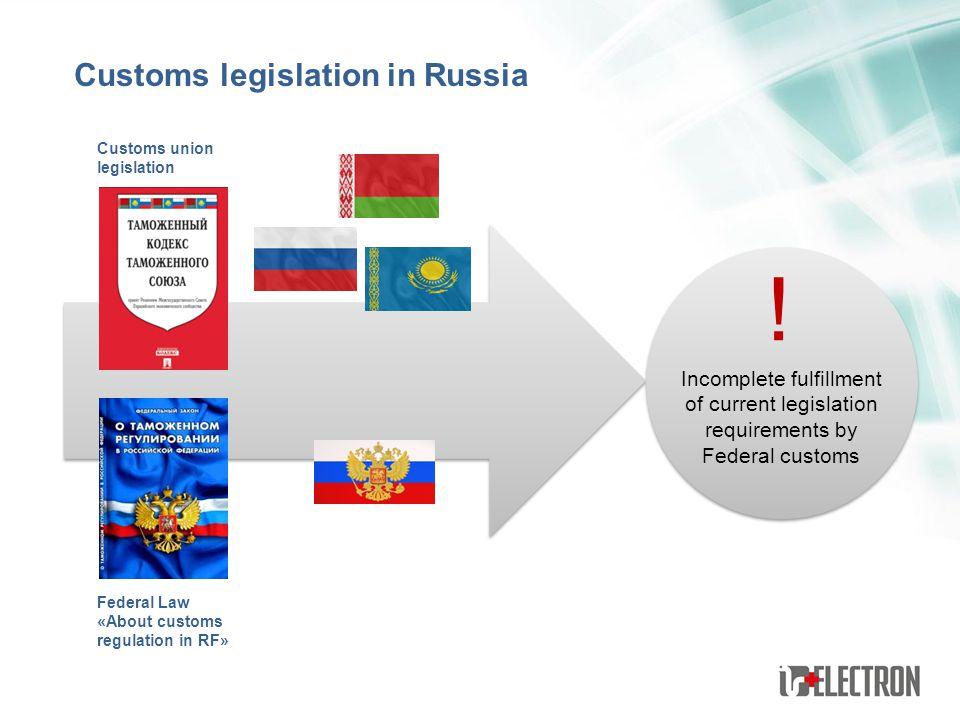 ! Customs legislation in Russia