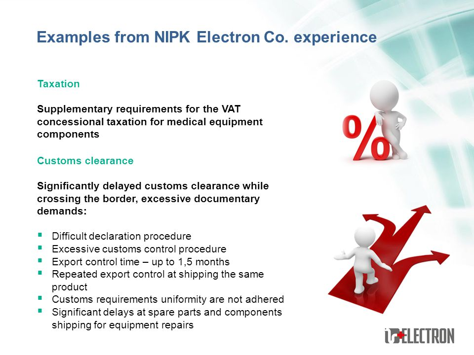 Examples from NIPK Electron Co. experience