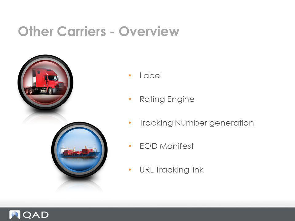 Other Carriers - Overview