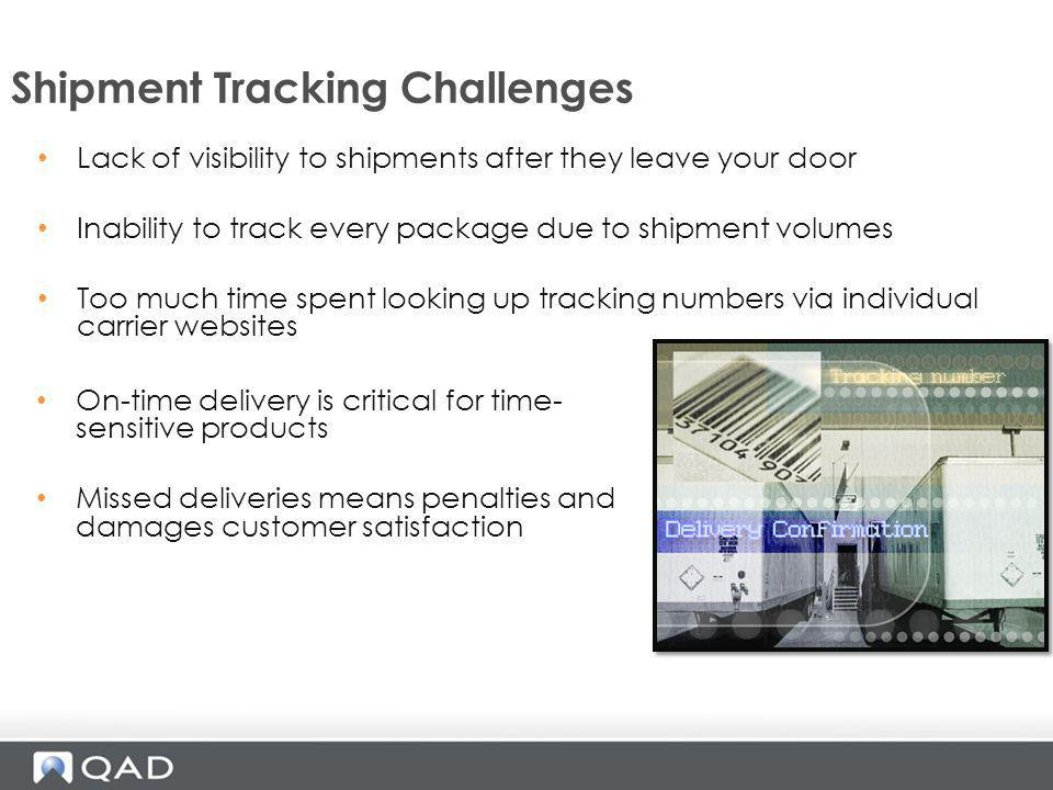 Shipment Tracking Challenges