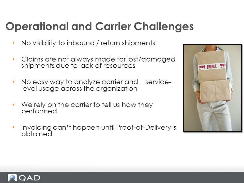 Operational and Carrier Challenges