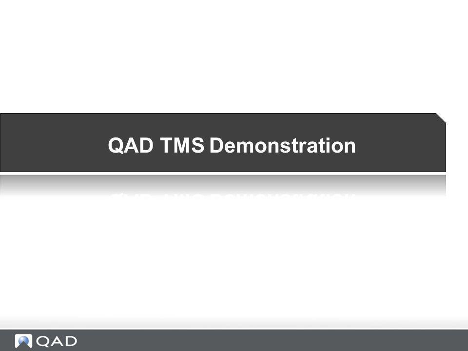 QAD TMS Demonstration Mark