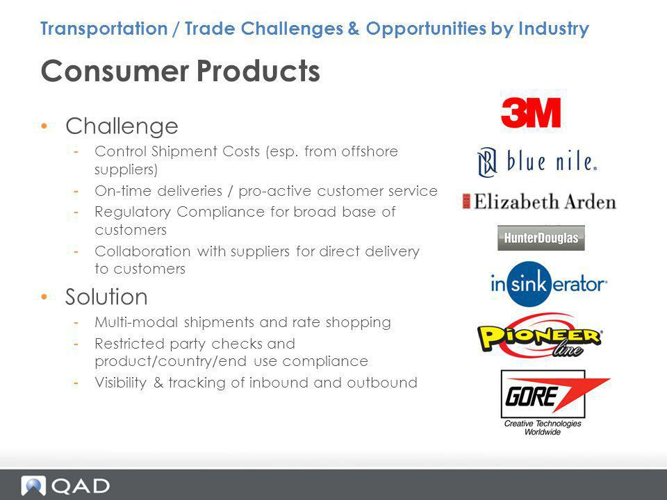 Consumer Products Challenge Solution