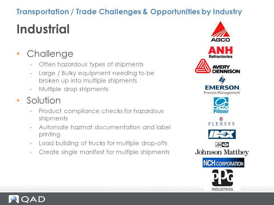 Industrial Challenge Solution