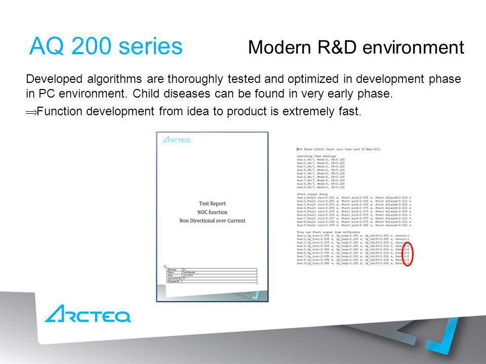 AQ 200 series Modern R&D environment